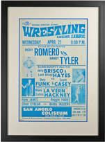 Rejuvenation Framed Lucha Libre Wrestling Poster Romero v Tyler