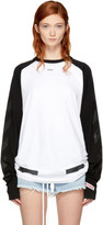 Off-White Black & White Brushed Diagonal Raglan T-Shirt