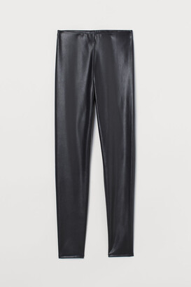 H&M Faux Leather Leggings - Black