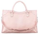 Balenciaga Giant 12 Nickel Calf Hair City Bag, Rose