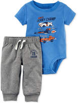 Carter's 2-Pc. Cotton Derby Champ Bodysuit and Jogger Pants Set, Baby Boys