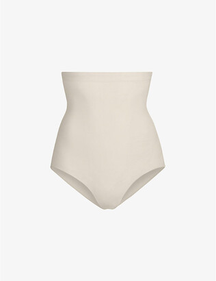 SKIMS Ladies Cream Matte Kim Kardashian West Sculpt High Waist Brief, Size: XXS/XS
