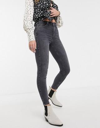 Topshop Jamie skinny jeans in washed black