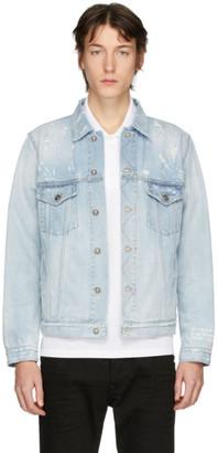 Givenchy Blue Denim Distressed Jacket