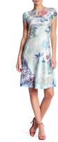 Komarov Cap Sleeve Keyhole Dress