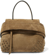 Tod's Wave Mini Suede Tote - Army green