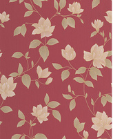 Graham & Brown Amy Wallpaper Sample - Red