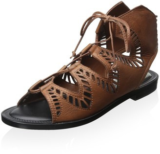 Dolce Vita Women's Deklon Lace Up Flat Sandals