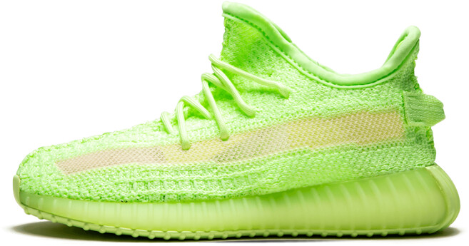 Adidas Yeezy Boost 350 V2 GID Infant 'Glow in the Dark' Shoes - Size 7K