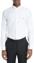 The Kooples Men's Embroidered Crest Trim Fit Double Collar Sport Shirt