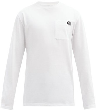 Loewe Anagram Patch-pocket Cotton-jersey T-shirt - White