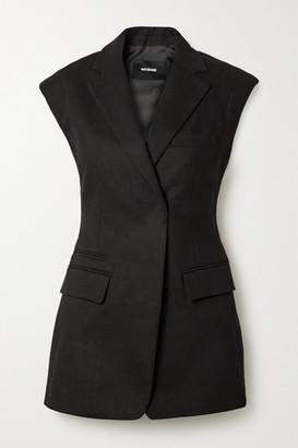 we11done Grain De Poudre Wool-blend Blazer - Black