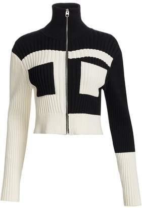 Proenza Schouler White Label Colorblock Knit Jacket