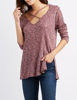 Charlotte Russe Marled Strappy Tunic Top