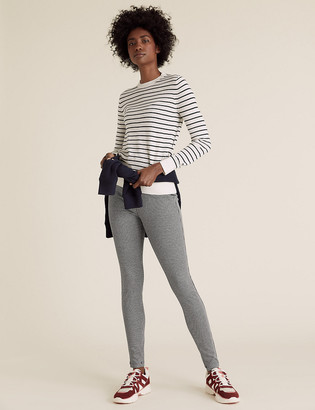 Marks and Spencer Jersey Checked Skinny Ankle Grazer Trousers