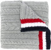 Thom Browne Light Grey Fine Merino Pocket Scarf