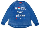 Butter Shoes Girls' Vote for Pizza Burnout Tee - Sizes S-XL