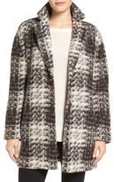 Bernardo Plaid Sweater Coat