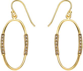 Genevive 14K & Rhodium Over Silver Cz Earrings