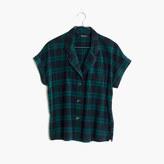 Madewell Flannel Bedtime Pajama Top in Dark Plaid