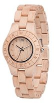 WeWood Ladies' Moon Crystal Beige Analog Wood Watch - Beige Bracelet - Beige Dial - WMCRYBEIGE