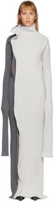 Christina SSENSE Exclusive Grey Knitted Dress