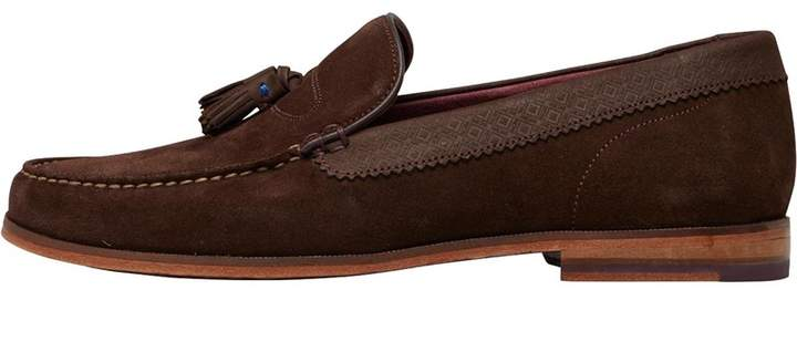 Ted Baker Mens Dougge Suede Shoes Brown