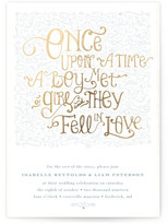 Minted Once Upon Foil-Pressed Wedding Invitations