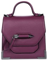 Mackage Rubie Structured Leather Shoulder Bag In Berry