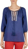 Gerard Darel Corfou Embroidered Top