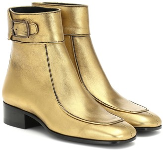 Saint Laurent Miles leather ankle boots
