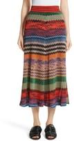 Missoni Women's Metallic Stripe Knit Midi Skirt
