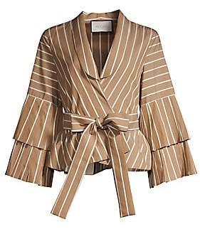 Alexis Women's Lipa Striped Bell Sleeve Tie-Waist Blouse