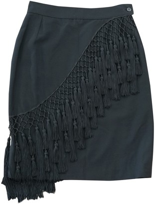 Gianni Versace Black Wool Skirt for Women Vintage