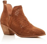 Sigerson Morrison Bonnie Perforated Mid Heel Booties