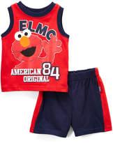 Children's Apparel Network Elmo 'American Original' Tank & Shorts Set - Infant