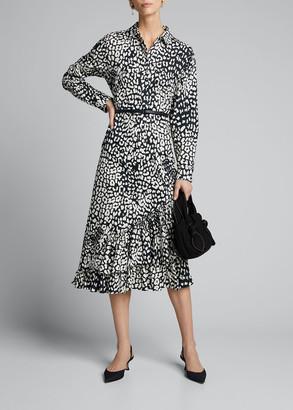Max Mara Lipari Graphic Leopard-Print Dress