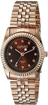 August Steiner Women's AS8170RGBR Rose Gold Quartz Watch with Brown Dial and Rose Gold Bracelet