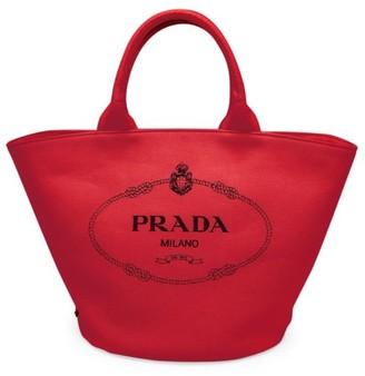 Prada Small Canvas Shopper
