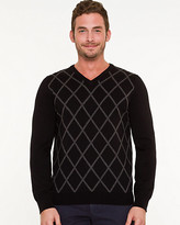 Le Château Argyle Print Slim Fit Sweater