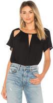 Ella Moss Cutout Top in Black