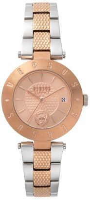 Versus By Versace Logo Two-Tone Stainless Steel Bracelet Watch
