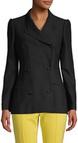 Alexander McQueen Wool & Silk Double-Breasted Blazer
