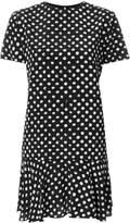 Saint Laurent polka dot fitted dress