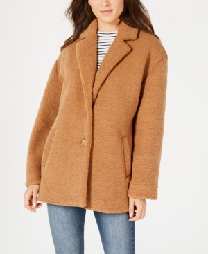 Collection B Juniors' Faux-Fur Coat, Created for Macy's