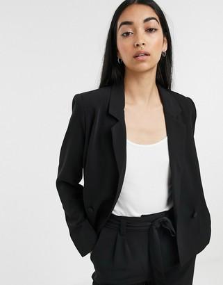 Gestuz Nani double breasted co-ord blazer-Black