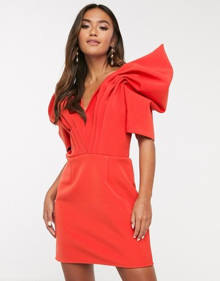C/Meo on the level mini dress with statement sleeve