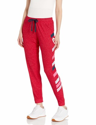 Skechers Women's Bobs for Dogs and Cats Cozy Pull on Jogger Sweat Pant - Red - Medium