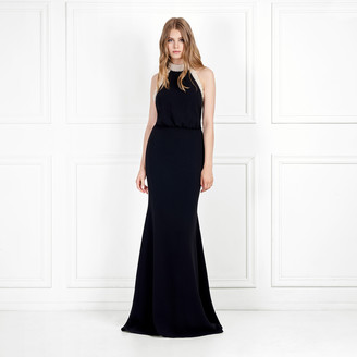 Rachel Zoe Alison Pearl-Embellished Stretch-Crepe Gown