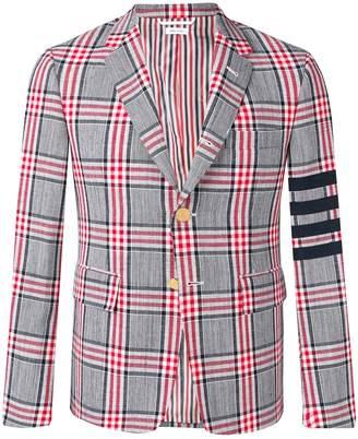 Thom Browne 4-bar Prince Of Wales Sport Coat